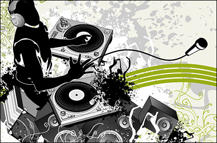 Link toDj music and patterns vector
