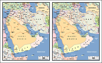 Link toVector map of the world exquisite material - the arabian peninsula map