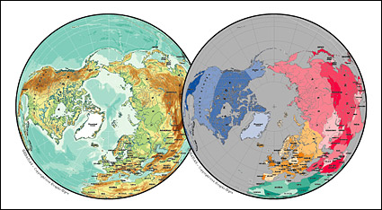 Link toVector map of the world exquisite material - the northern hemisphere spherical map