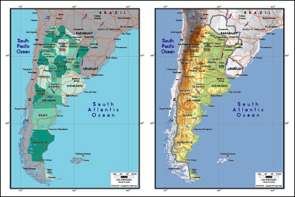 Link toVector map of the world exquisite material - argentina map