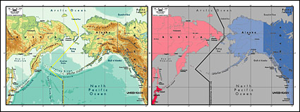 Link toVector map of the world exquisite material - bering strait map