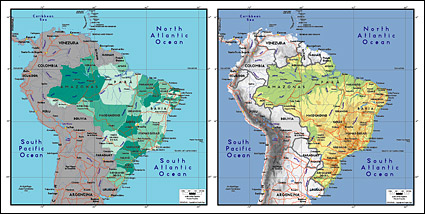 Link toVector map of the world exquisite material - brazil map
