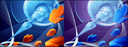 Link to3d vector arrows and background material