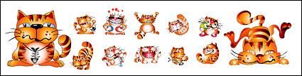 Link toCute cartoon cat vector material