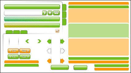 Link toWeb design material - decoration, buttons, navigation