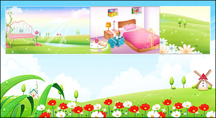 Link toSpring, summer, room, the network vector scenery