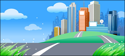 Link toBeautiful city scenery vector -4