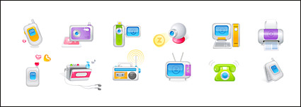 Link toDigital audio-video product vector icon