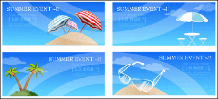 Link toSummer beach theme of the seaside vector icon