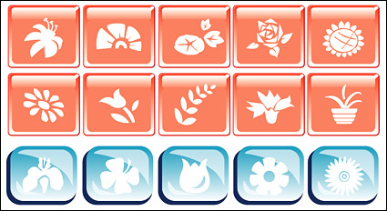 Link toFlower theme vector icon