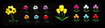 Link toCrystal cartoon style flower