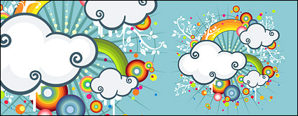 Link toRainbow, clouds trend illustrations