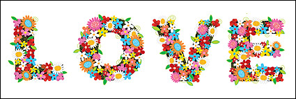 Link toColourful flowers composed of love vector material