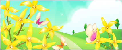 Link toThe outskirts of flowers and butterflies