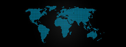 Blue-point map of the world vector material