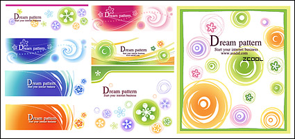 Link toLovely pattern vector background material