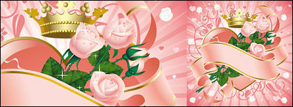 Link toPink roses and ribbons