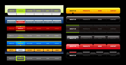 Link toWeb2.0 style menu navigation of the site