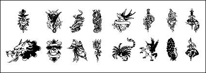 Black and white tattoo totem