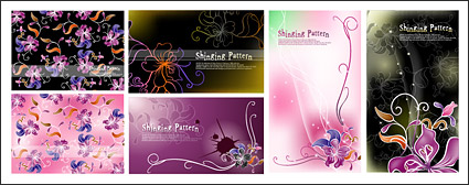 Link toVector fantasy flowers background material