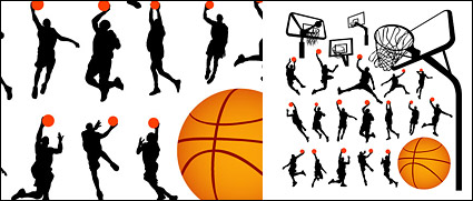 Link toBasketball figure silhouettes and lan qiujia
