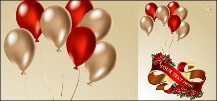 Link toBalloons, ribbons, roses vector material