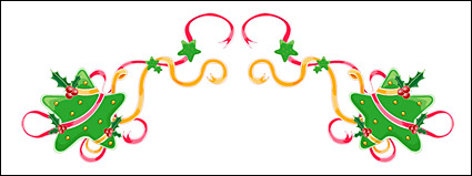 Christmas exquisite lace Vector material -20