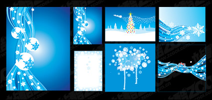 Blue vector winter material