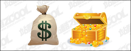 Link toWallet with the cash box vector material
