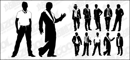 Link toVarious types of material men vector
