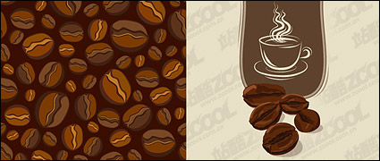 Link toVector material coffee beans