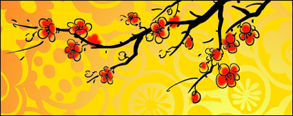Link toChinese painting style plum vector material