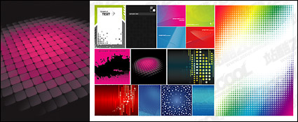 Link toFeatured vector background material - dot, checked, lines, flashlight