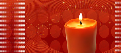 Link toRed candles theme vector material