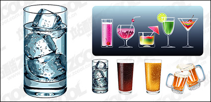 Link toVector material cool summer drinks