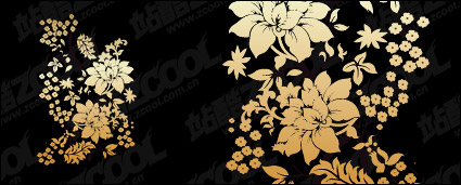 Link toPractical flower pattern vector material