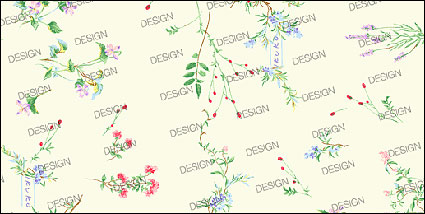 Variety of fine material small flowers psd