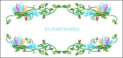 Link toChristmas exquisite lace vector material-10