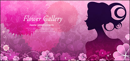 Link toFlower and beauty vector material-4