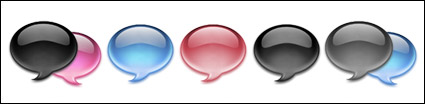 Crystal dialogue bubble icon png