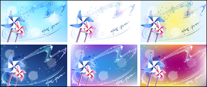 Link toWindmill and dreamy background material vector