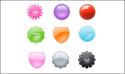 Web 2.0 decorative badge series png & psd source