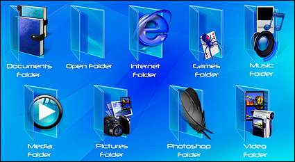 Style vista blue folder icon png