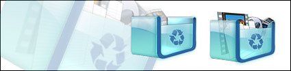 Vista style cool the recycle bin png