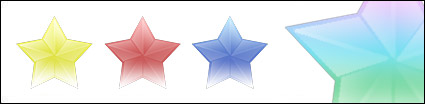 Series of three-dimensional star icon transparent png