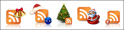 Christmas theme rss subscription icon png
