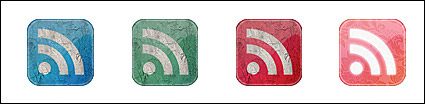 Retro-style feed icon png