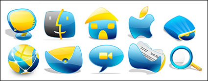 Crystal cartoon style icon in the computer system png