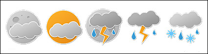 Stickers style weather png computer icon