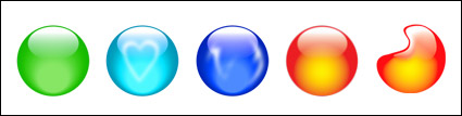 Multi-color crystal ball element icon png